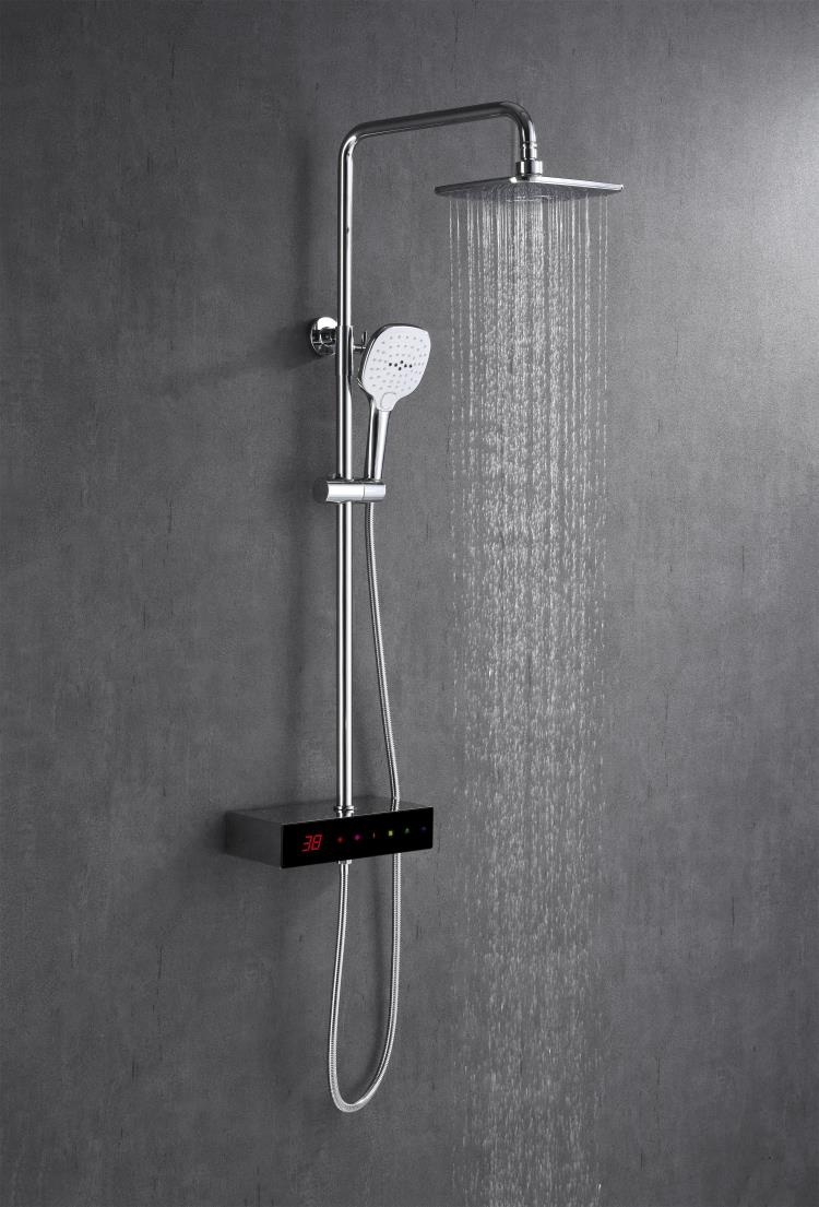 Full-touch screen digital thermostatic shower faucet XS-M9204
